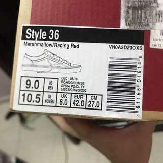 Vans Style 36 marshmallow red GD