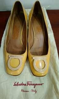 Salvatore Ferragamo patent leather shoe