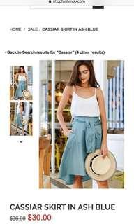 Fashmob skirt in each color