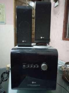 LG speaker extreme bass sound