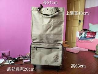 🚚 二手九成新收納附輪行李袋