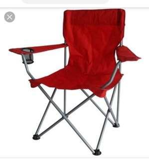 全新 摺椅半價  實物橙色 沙灘椅 露台椅 露營椅  road show 椅 Foldable chair