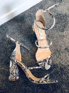 Billini snakeskin heels