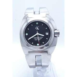 Calvin Klein 卡文克萊全黑面不銹鋼錶,運動錶,軍錶