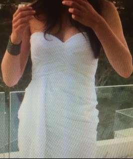 White Sweetheart formal dress