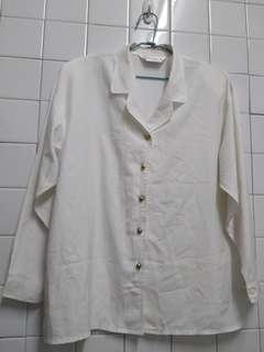 代賣古著襯衫 雙肩有薄墊 男女都可穿