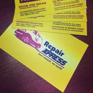Print Mobile repair business Name card