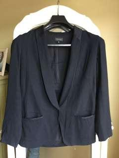 Aritzia babaton black blazer with a satin collar