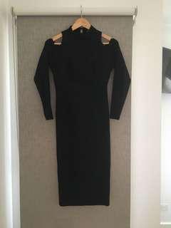 Mossman Black knit dress