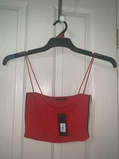 Cute red glassons crop