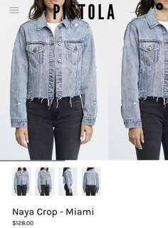 Cropped denim jacket size small
