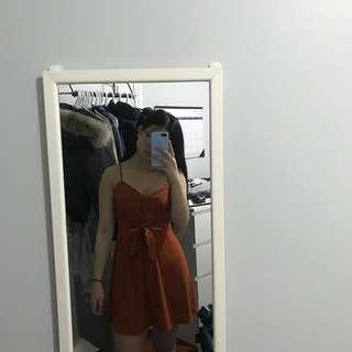 BNWT forever21 tie-up dress