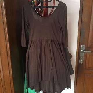 Hardware Green Low Back Dress