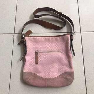 original Coach pink bag