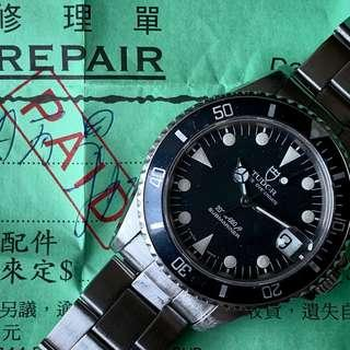 Tudor Submariner 75090 Rolex 錶冠/錶底