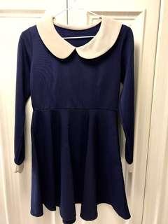 9成新深藍連身裙