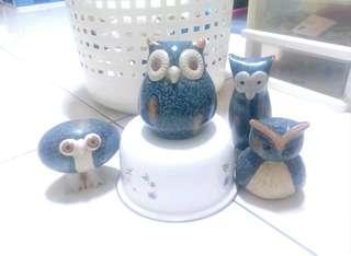 🚚 陶瓷製貓頭鷹(整組售)