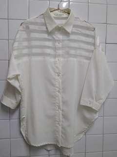 代賣紡紗襯衫很新 有小汙漬