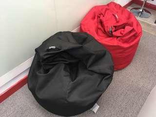 Slack Lifestyle Bean Bag Chair, Waterproof (Red or Black)