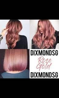 Dixmondsg hair dye 100ml Rose Gold