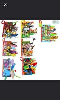 Jollybaby sensory tails cloth books - 8 designs