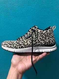 Gourmet Leopard Print Sneakers, Italian Leather size 6.5/7
