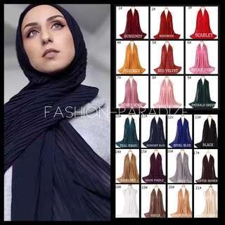 5+2 free pleated chiffon shawl