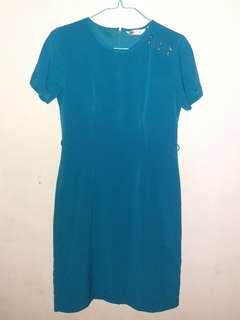 Dress biru tosca