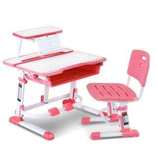 兒童升降桌椅組合- ($1498) 3-16歲啱用.書桌椅可升降學習桌寫字枱兒童學習桌電腦枱電腦桌書枱