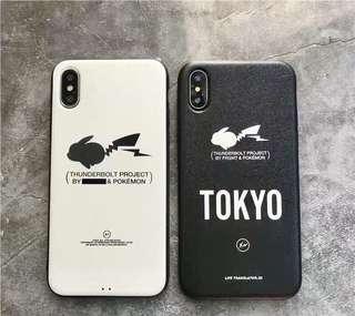 Pokemon 比卡超日本卡通藤原浩全包手機軟殼 Apple iPhone case