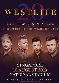 WTB Westlife Concert Tickets