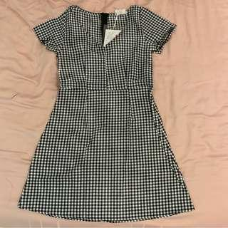 🚚 gingham short sleeve dress