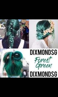 DixmondSG Semi Permanent Hair Dye 100ML in Forest Green