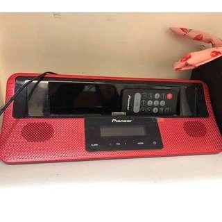 Pioneer Apple專用音響  X-DS501 (紅色)