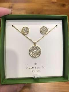 BN Kate Spade Necklace and Earrings Set