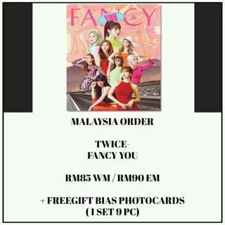 #TWICE - FANCY YOU - PREORDER/NORMAL ORDER/GROUP ORDER/GO + FREE GIFT BIAS PHOTOCARDS (1 ALBUM GET 1 SET PC, 1 SET HAS 9 PC)