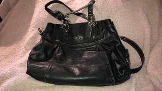 Coach black leather