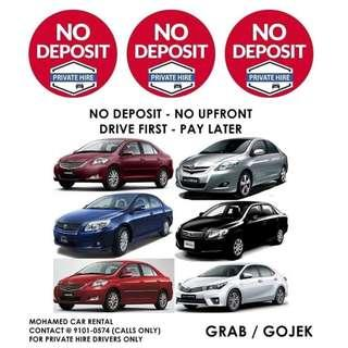 NO DEPOSIT / NO UPFRONT GRAB | GOJEK | PRIVATE-HIRE Booking & Enquiries 9101-0574 (CALLS ONLY)