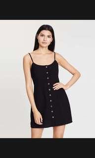 Jazzy cotton button through mini dress