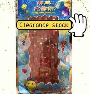 (9/4) JUST TO CLEAR- Promotion tinsel foil curtain - RED Tinsel foil curtain only