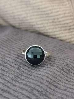 🚚 Black Spinel S925 silver Ring (natural crystal stone)