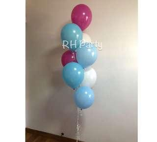 (9/4) Helium Latex balloon Bouquet ( hot pink, Caribbean blue, light blue , white pastel latex Theme )