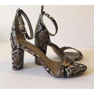 NWOT H&M snake print heels sandals
