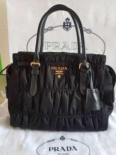 2f137db6c3e0 Prada Gaufre Tessuto Nylon Tote Handbag