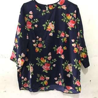 Blouse Floral navy