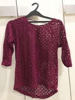 Color box blouse