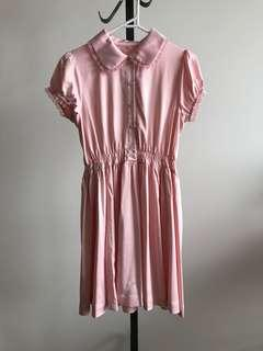 Vintage style peach pink Lolita babydoll dress