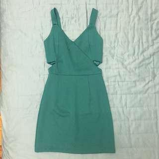 Party dress in emerald green