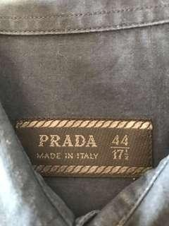 Prada work shirt size 44/17-1/2