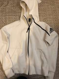 Adidas Zip up jacket ZNE 白色 white 連帽外套